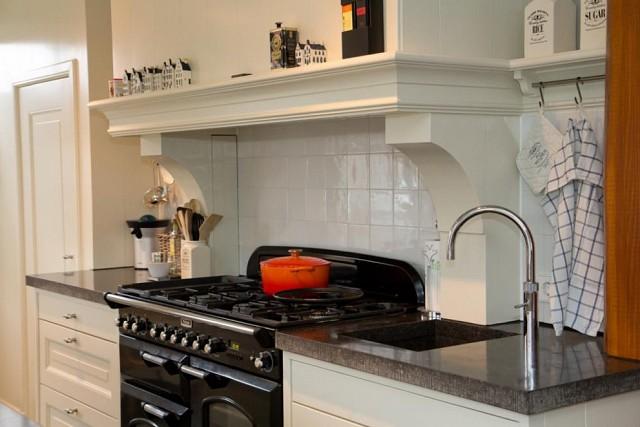 kookplaats met extra afgietmogelijkheid