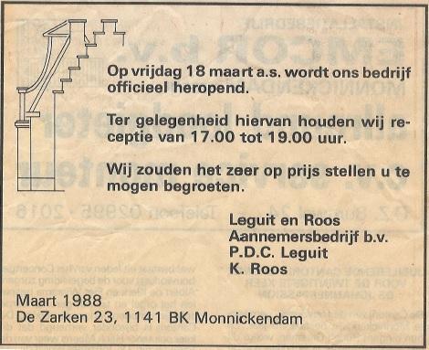 Opening 1988